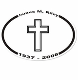 Cross Memorial Sticker