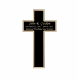 Cross Nameplate - Engraved Black and Tan - 2-1/4  x  3-7/8