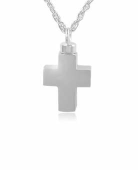 Cross Sterling Silver Cremation Jewelry Pendant Necklace