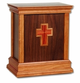 Cross Walnut Hardwood Handcrafted Cremation Urn by WoodMiller