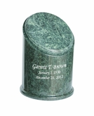 Crown Green Marble Engravable Cremation Urn