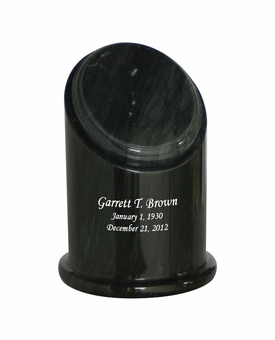Crown Youth Black Marble Engravable Cremation Urn