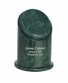 Crown Youth Green Marble Engravable Cremation Urn