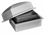 Crowne Compact Coronet Gray Cremation Urn Burial Vault with Temporary Cremation Urn