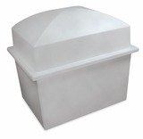 Crowne Gray Double Cremation Urn Burial Vault