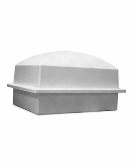 Crowne Gray Single Cremation Urn Burial Vault