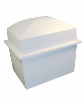 Crowne White Double Cremation Urn Burial Vault
