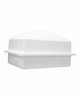 Crowne White Single Cremation Urn Burial Vault