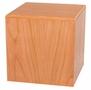 Cube Natural Cherry Wood Cremation Urn