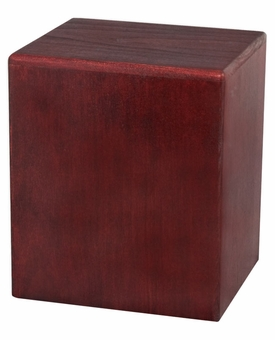 Cube Natural RoseWood Cremation Urn