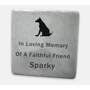 Custom Engraved Flagstone - 12 x 12 x 1.5 Inches - Pet Garden Memorial Marker - Blue-Gray