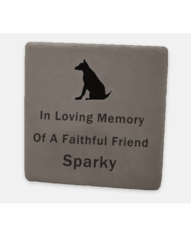 Custom Engraved Flagstone - 12 x 12 x 1.5 Inches - Pet Garden Memorial Marker - Lilac