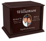 Custom Photo Eternal Reflections Wood Companion Cremation Urn