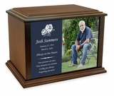 Custom Photo Eternal Reflections Wood Cremation Urn - 3 Sizes