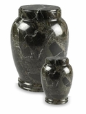 Dark Green Column Marble Cremation Urn