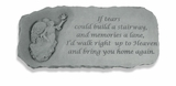 Decorative Bench - If Tears Could Build - Memorial Garden Stone - 371