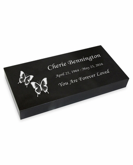 Design Your Grave Marker Black Granite Laser-Engraved Memorial Headstone