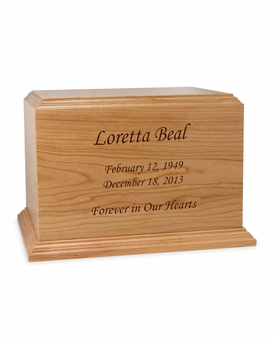 Design Your Own Ambassador Solid Cherry Wood Cremation Urn