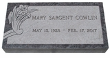 Design Your Own Bahama Blue Granite Cemetery Grave Marker