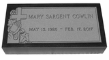 Design Your Own Black Granite Cemetery Grave Marker