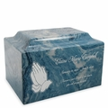 Mackenzie Classic Cultured Marble Cremation Urn Vault - Engravable - Many Color Choices