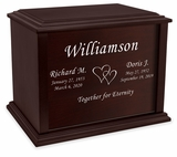 Design Your Own Eternal Reflections Wood Companion Cremation Urn