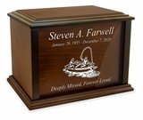 Design Your Own Eternal Reflections Wood Cremation Urn - 4 Sizes