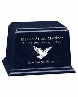 Design Your Own Granite Ark Cremation Urn - 14 Colors - 3 Sizes