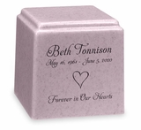 Design Your Own Granite Promise Cube Cremation Urn - 14 Colors