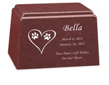 Design Your Own Granite Promise Pet Cremation Urn - 14 Colors - 3 Sizes
