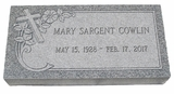 Design Your Own Gray Granite Cemetery Grave Marker