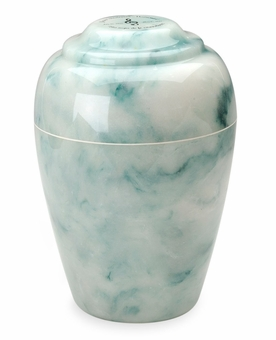 Design Your Own Grecian Cultured Marble Cremation Urn Vault - Engravable - 34 Color Choices