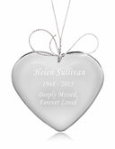 Design Your Own Heart Crystal Memorial Ornament