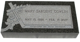 Design Your Own Impala Black Granite Cemetery Grave Marker