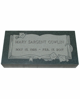 Design Your Own Imperial Green Granite Cemetery Grave Marker