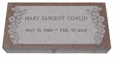 Design Your Own Imperial Pink  Granite Cemetery Grave Marker