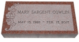 Design Your Own India Red Granite Cemetery Grave Marker