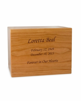 Design Your Own Manchester Solid Cherry Wood Cremation Urn
