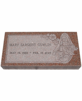 Design Your Own North American Pink  Granite Cemetery Grave Marker