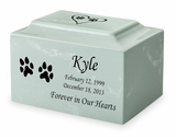 Design Your Own Pet Classic Cultured Marble Cremation Urn Vault - Engravable - 34 Color Choices