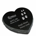 Design Your Own Pet Laser-Engraved Heart Marker Black Granite Memorial