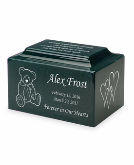 Design Your Own Small Classic Infant or Child Cremation Urn - Engravable