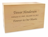 Design Your Own Solid Maple Wood Cremation Urn