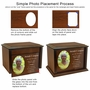 Devotion Heart Photo Frame Wood Cremation Urn - 3 Sizes