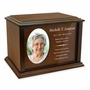Devotion Oval Photo Frame Wood Cremation Urn - 4 Sizes