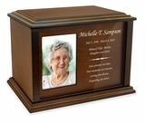 Devotion Rectangle Photo Frame Wood Cremation Urn - 3 Sizes