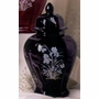 Diamond Black Iris Ceramic Cremation Urn