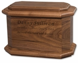 Diplomat Walnut Wood Cremation Urn
