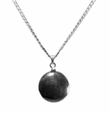 Disc Sterling Silver Cremation Jewelry Necklace