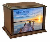 Dock on the Lake Eternal Reflections Wood Cremation Urn - 3 Sizes